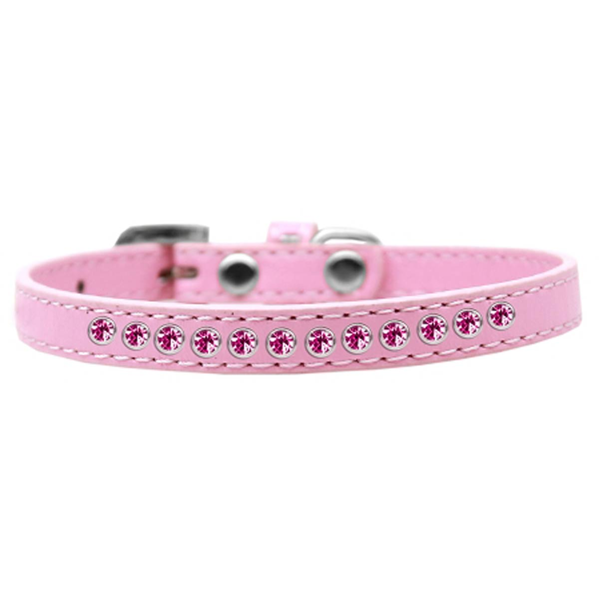 Bright Pink Crystal Puppy Light Pink Dog Collar