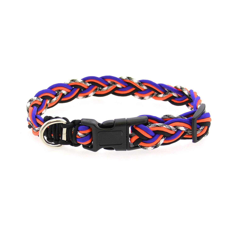 Ghost Dog Collar - Orange and Blue