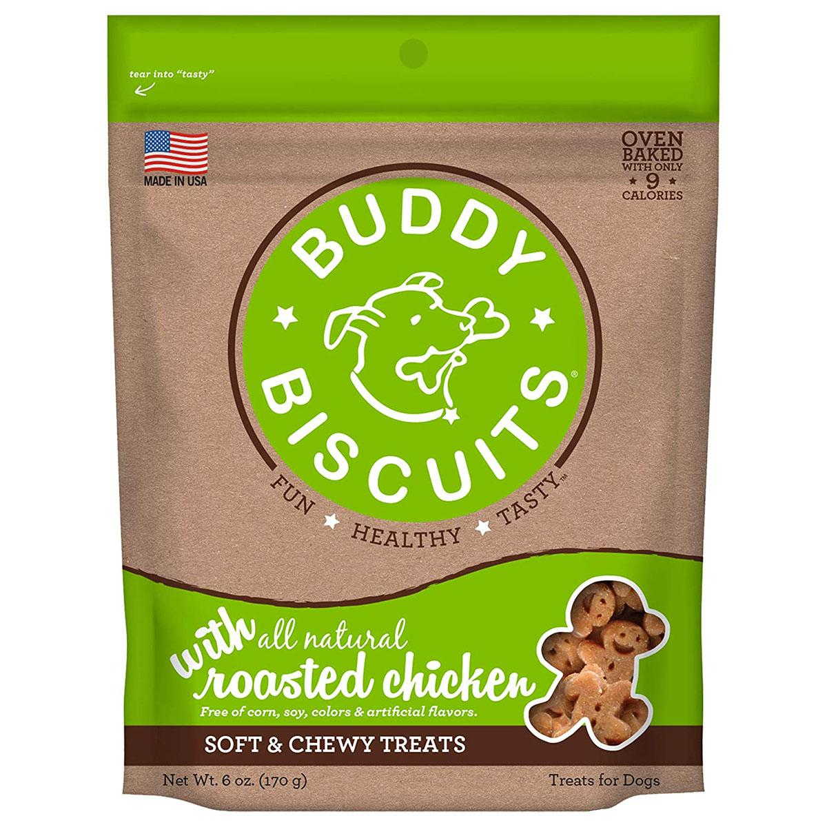 Buddy Biscuits Whole Grain Soft & Chewy Dog Treats - Roasted Chicken