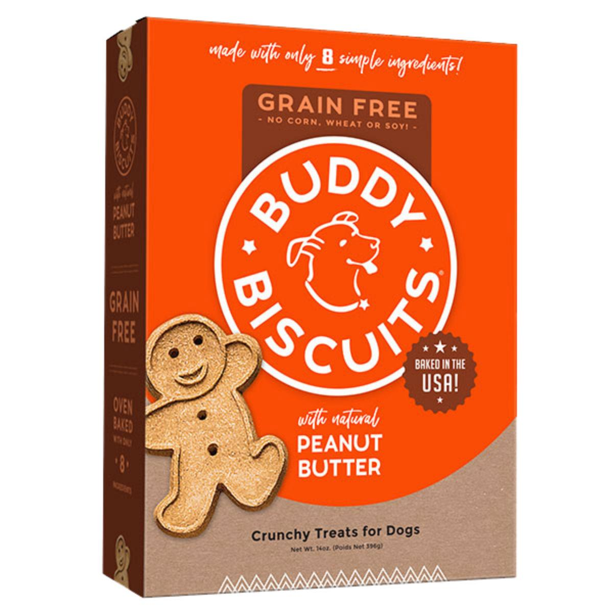 Buddy Biscuits Grain-Free Oven Baked Dog Treat - Homestyle Peanut Butter