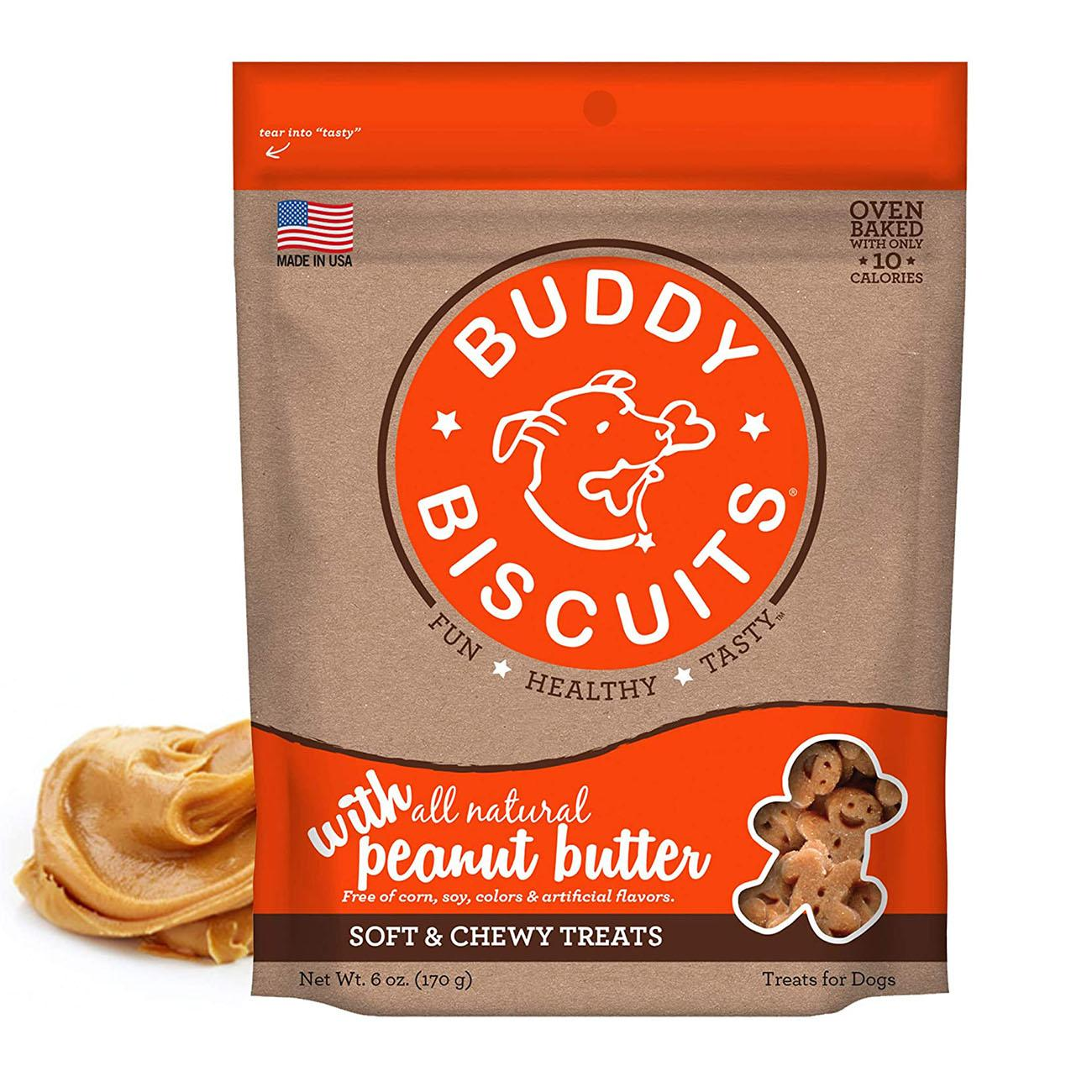 Buddy Biscuits Whole Grain Soft & Chewy Dog Treats - Peanut Butter