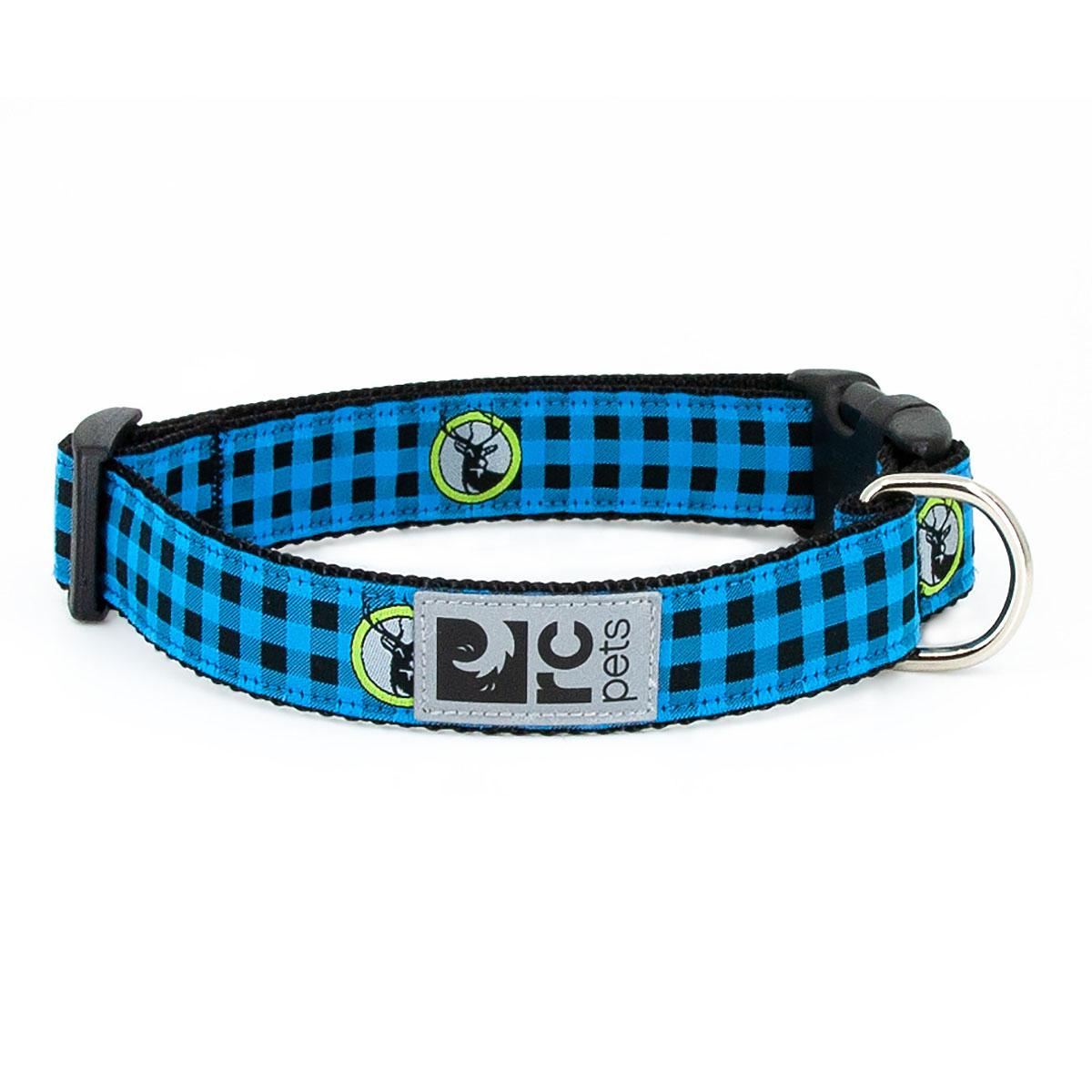 Buffalo Plaid Adjustable Dog Collar by RC Pets - Blue