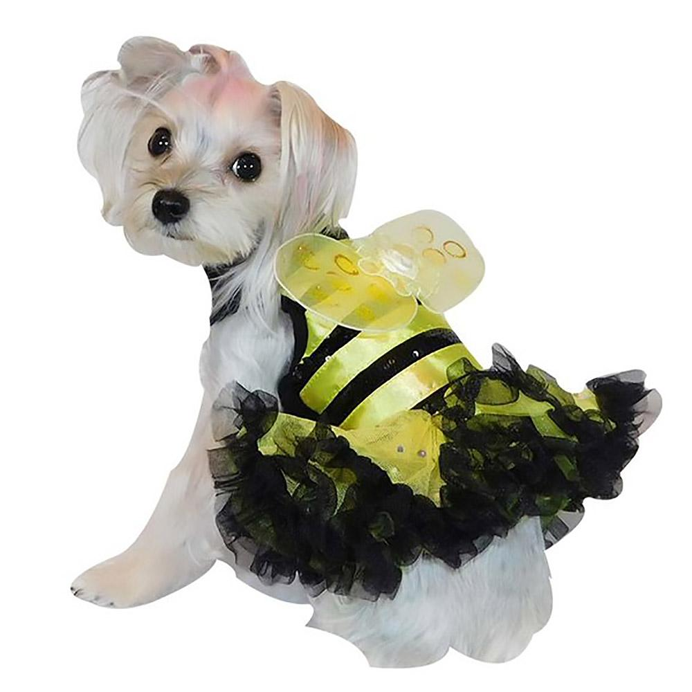 Bumblebee Dog Dress by Pawpatu - Black and Yellow