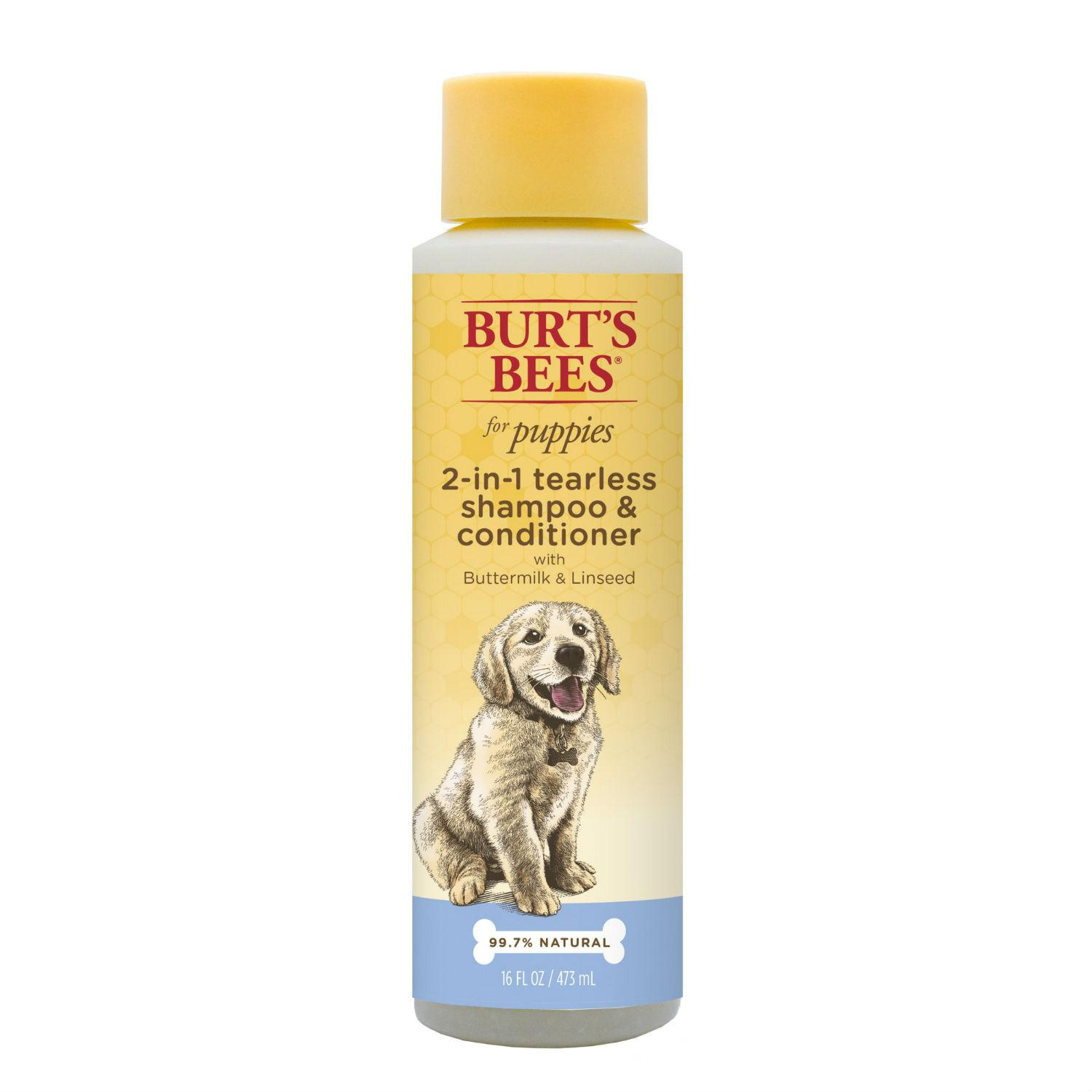 Burt's Bees for Puppies Tearless 2 in 1 Shampoo and Conditioner - Buttermilk and Linseed Oil