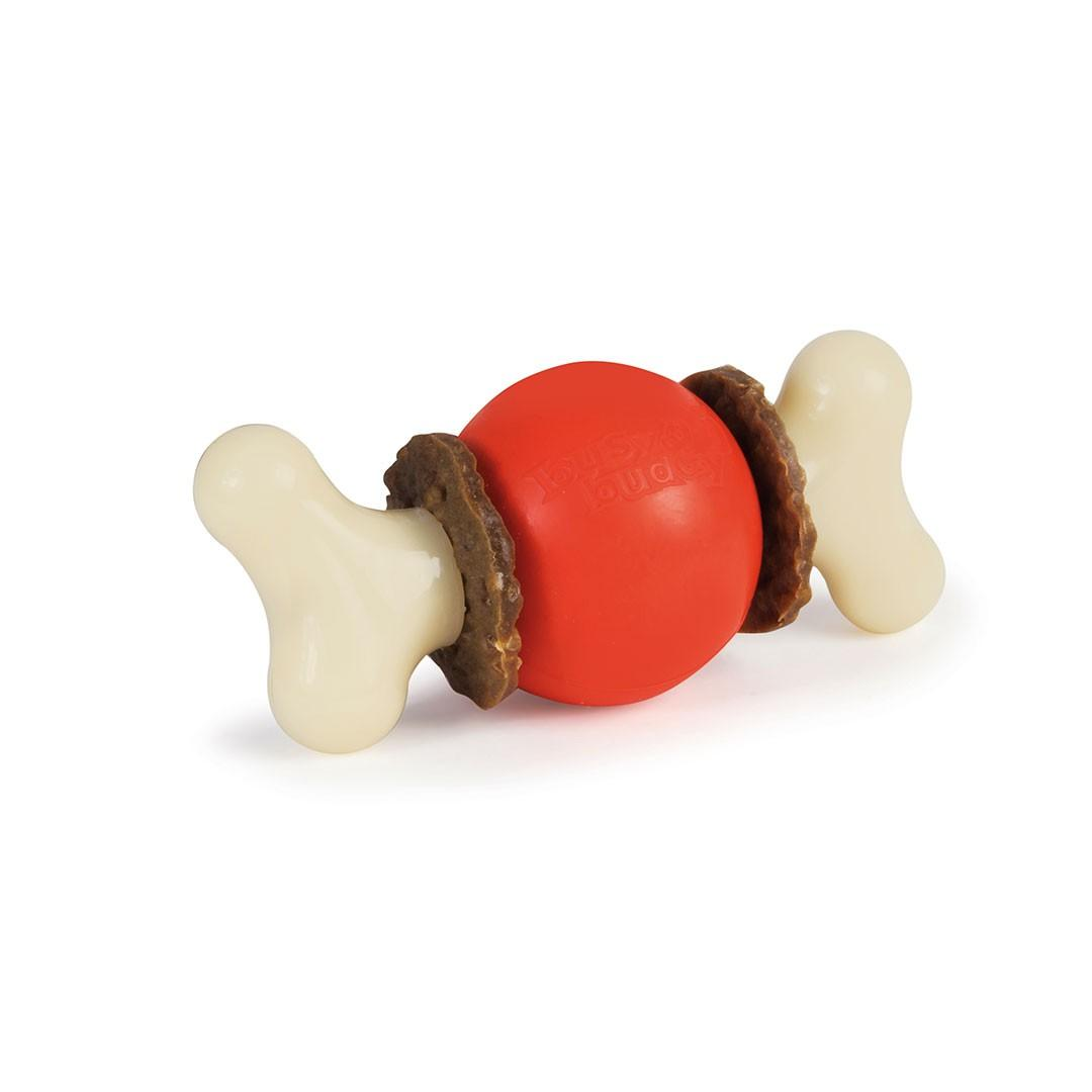 Busy Buddy Sportsmen Bouncy Bone Chew Toy - Blaze Orange