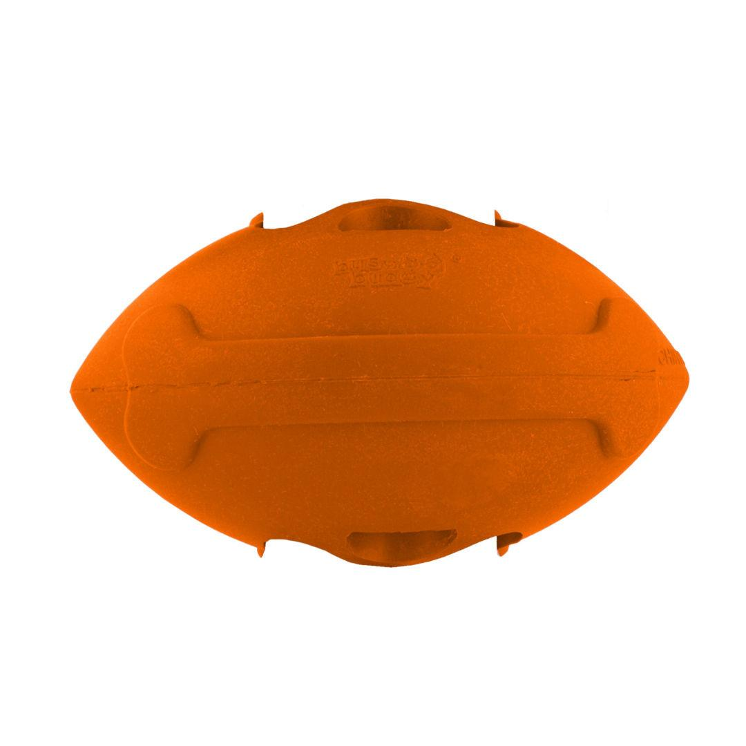 Busy Buddy Sportsmen Football Dog Toy - Blaze Orange