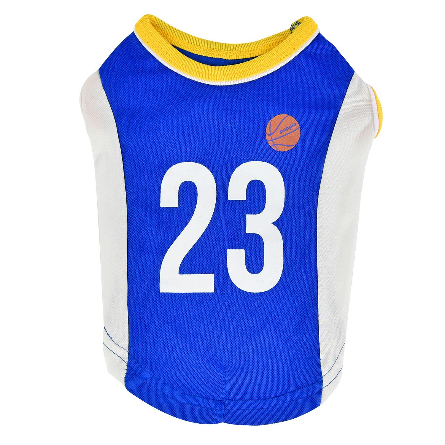 Buzzer Beater Basketball Dog Jersey by Puppia - Royal Blue