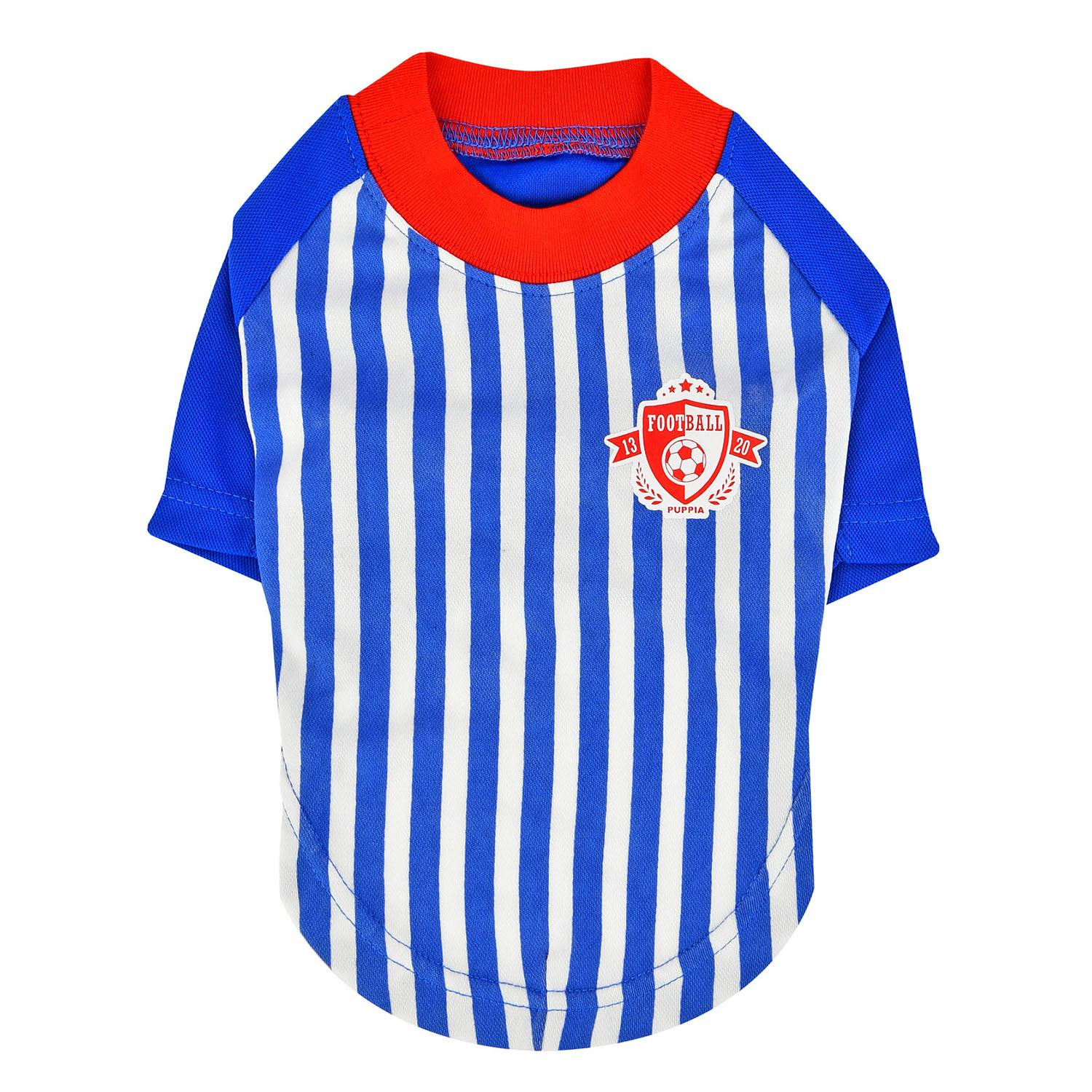 Striker Soccer Dog Jersey by Puppia - Royal Blue