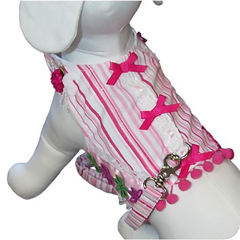 Cabana Girl Dog Harness Vest w/Leash by Cha-Cha Couture
