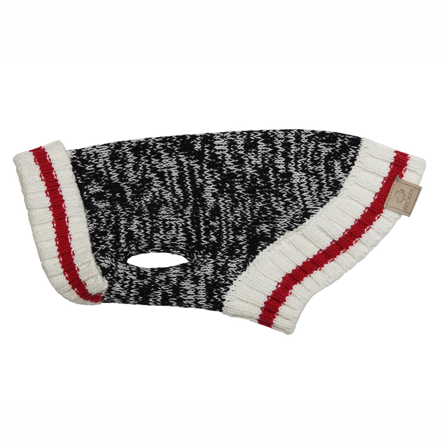Cabin Dog Sweater by RC Pet - Black Melange