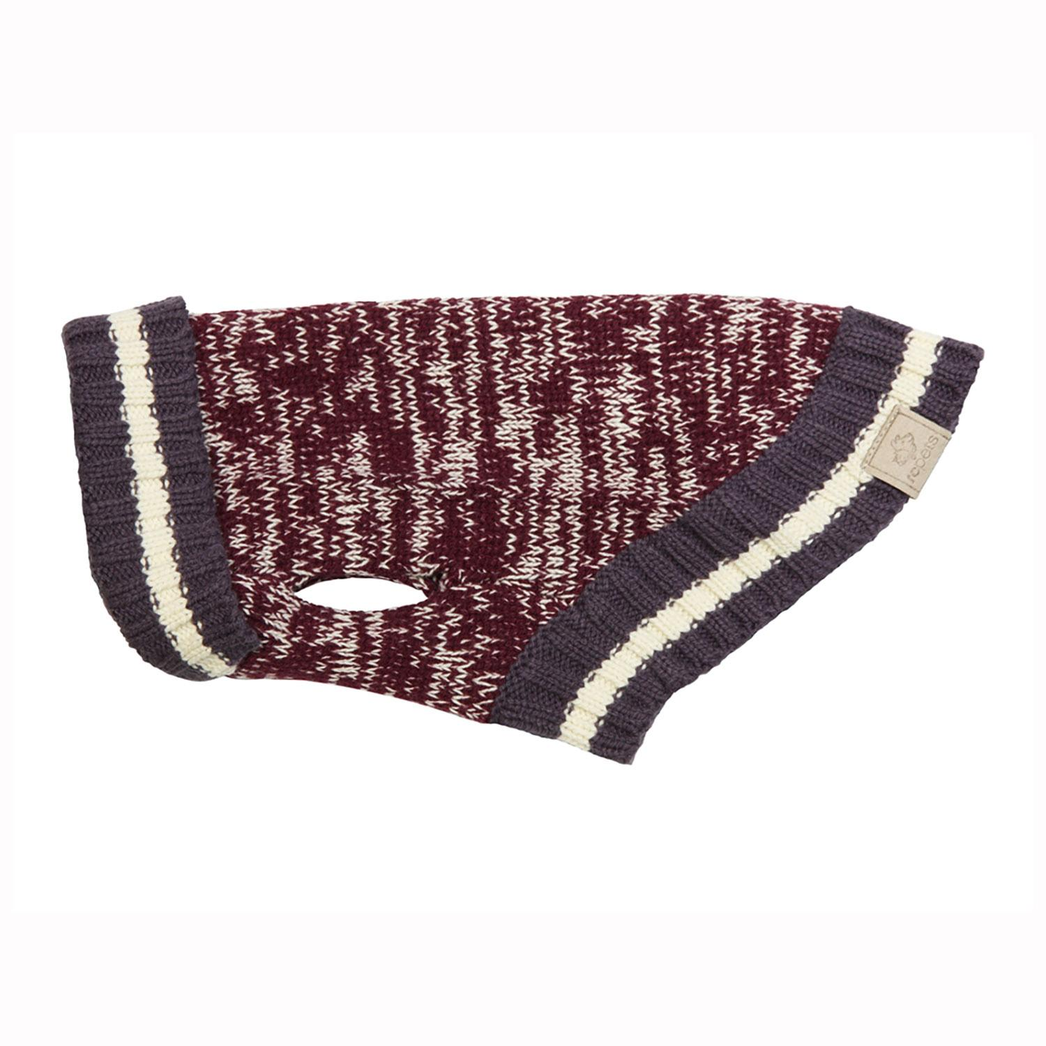 Cabin Dog Sweater by RC Pet - Burgundy Melange