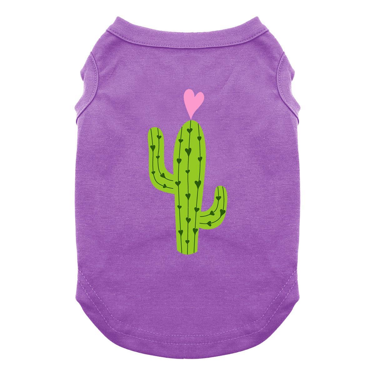 Cactus Dog Shirt - Purple