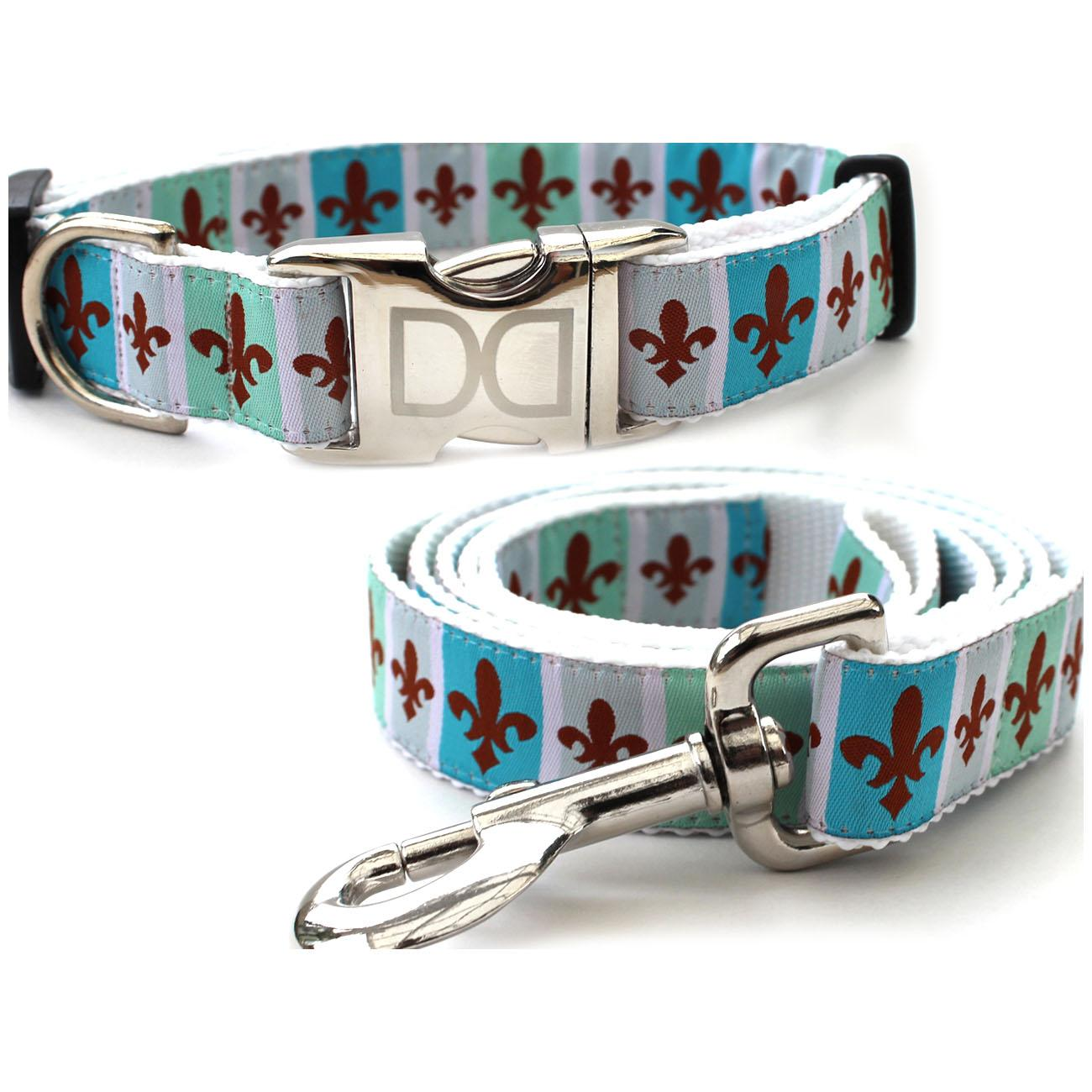 French Quarter Dog Collar and Leash Set by Diva Dog