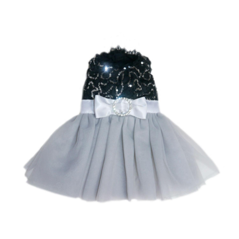 Camilla Party Dog Dress - Black