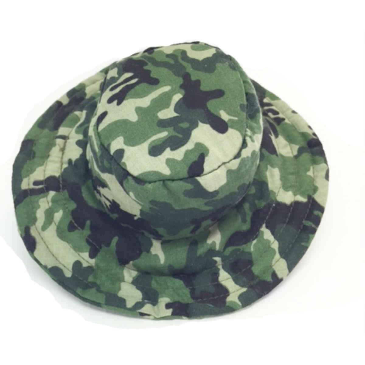 Camo Bucket Dog Hat - Green