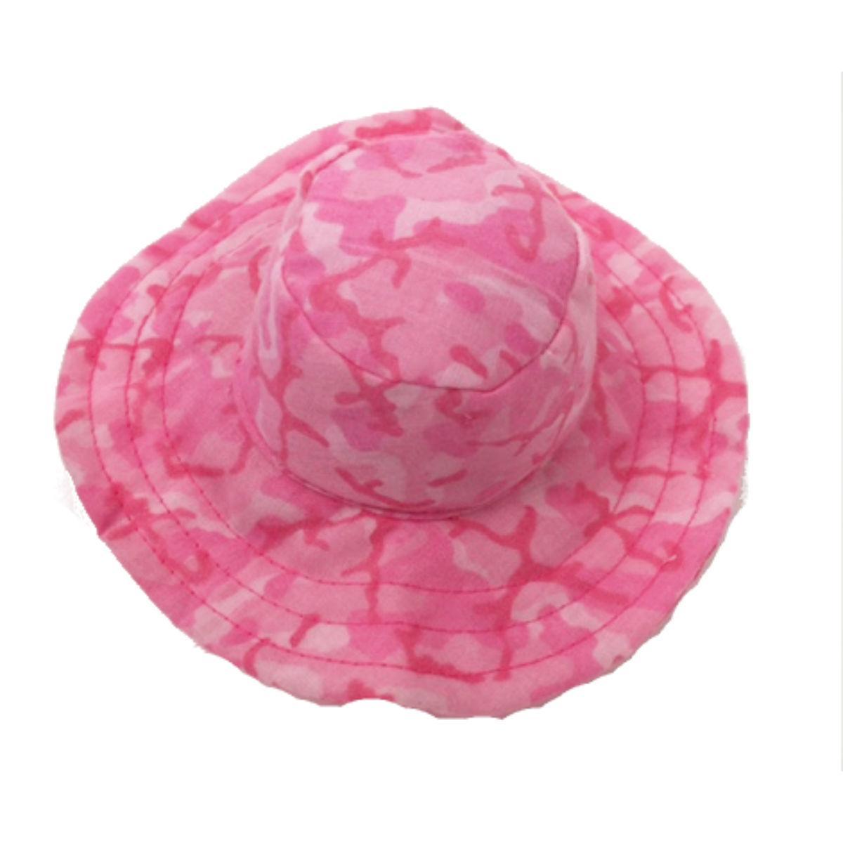 Camo Bucket Dog Hat - Pink