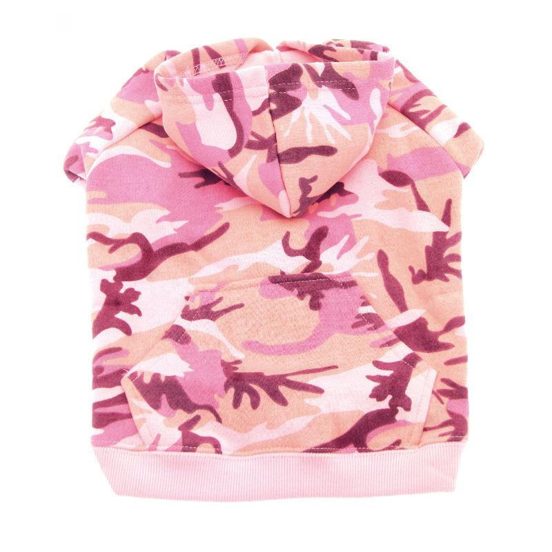 Camo Dog Hoodie - Pink