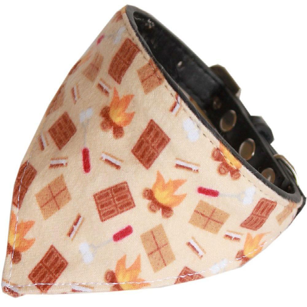 Campfire Bandana Dog Collar - Black