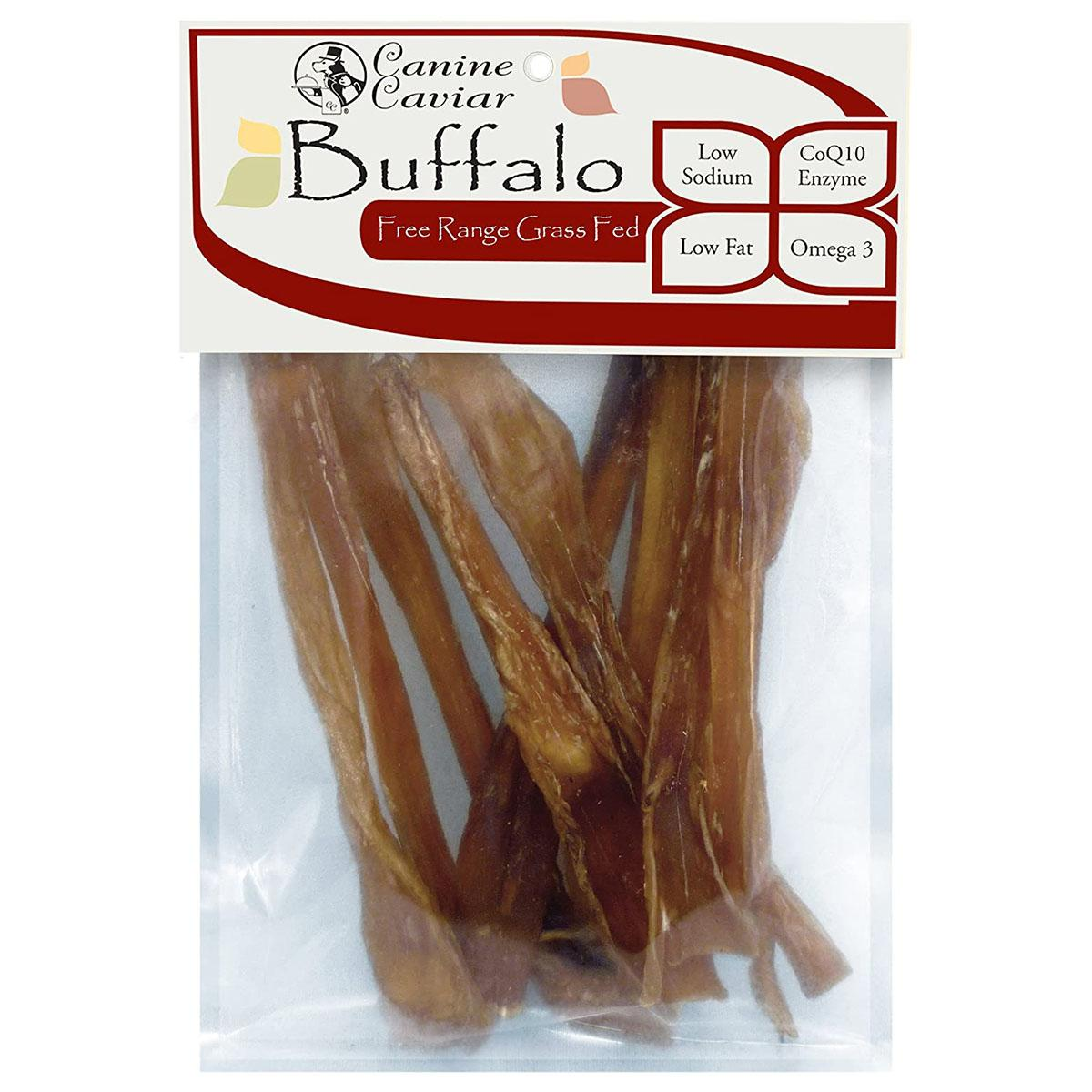 Canine Caviar Buffalo Tendon Toothpicks 6-Inch Dog Treats - 10-Pack