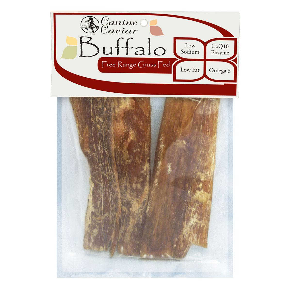 Canine Caviar Paddywack Buffalo Neck Meat 6-Inch Dog Treats - 4-Pack