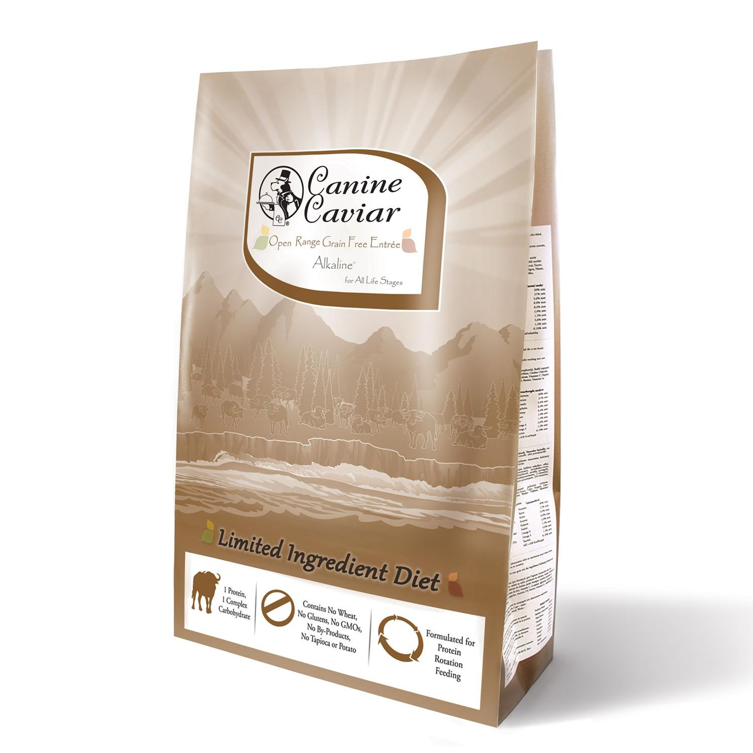 Canine Caviar Grain-Free Limited-Ingredient Alkaline Holistic Dry Dog Food - Open Range with Buffalo & Chickpeas