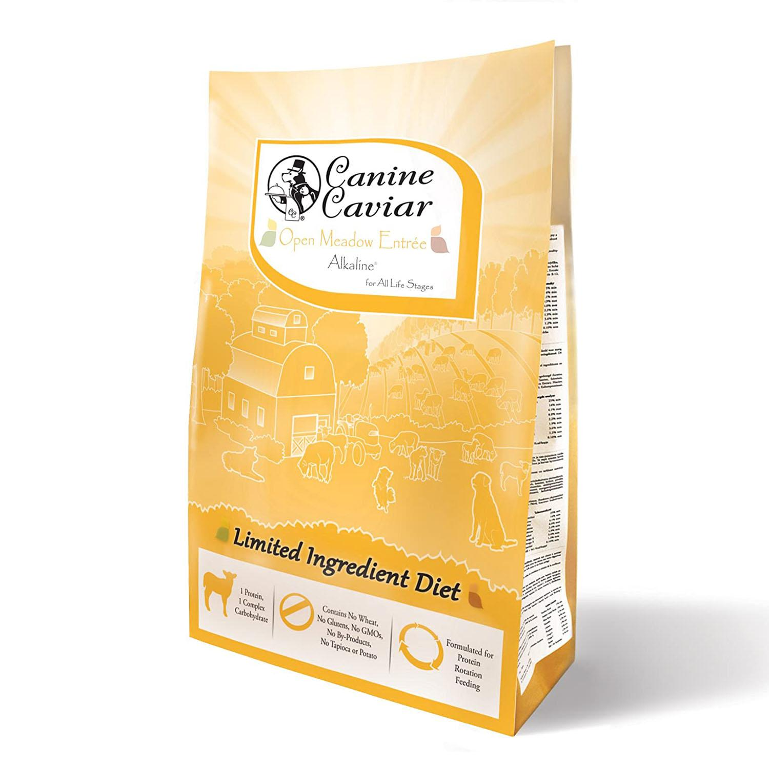 Canine Caviar Limited-Ingredient Alkaline Holistic Dry Dog Food - Open Meadow with Lamb & Pearl Millet