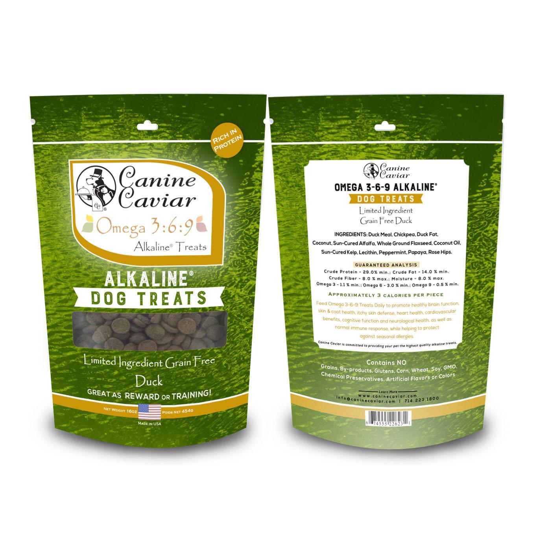Canine Caviar Omega 3-6-9 Limited Ingredient Grain-Free Alkaline Dog Treats - Duck