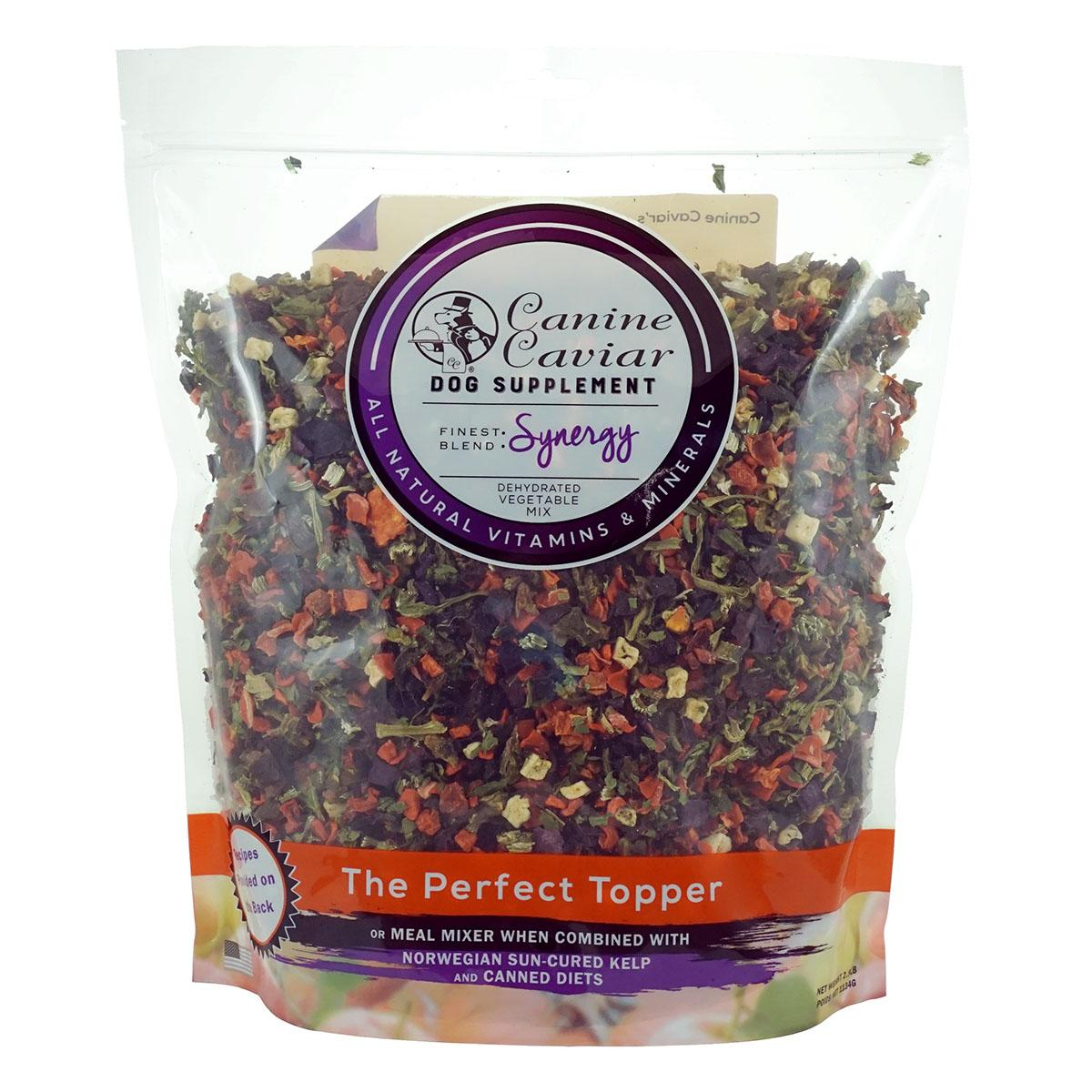 Canine Caviar Synergy Vegetable Mix Dog Food Supplement