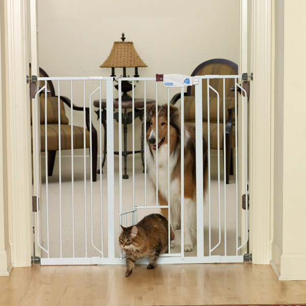 Carlson Extra Tall Walk Thru Dog Gate With Pet Door With