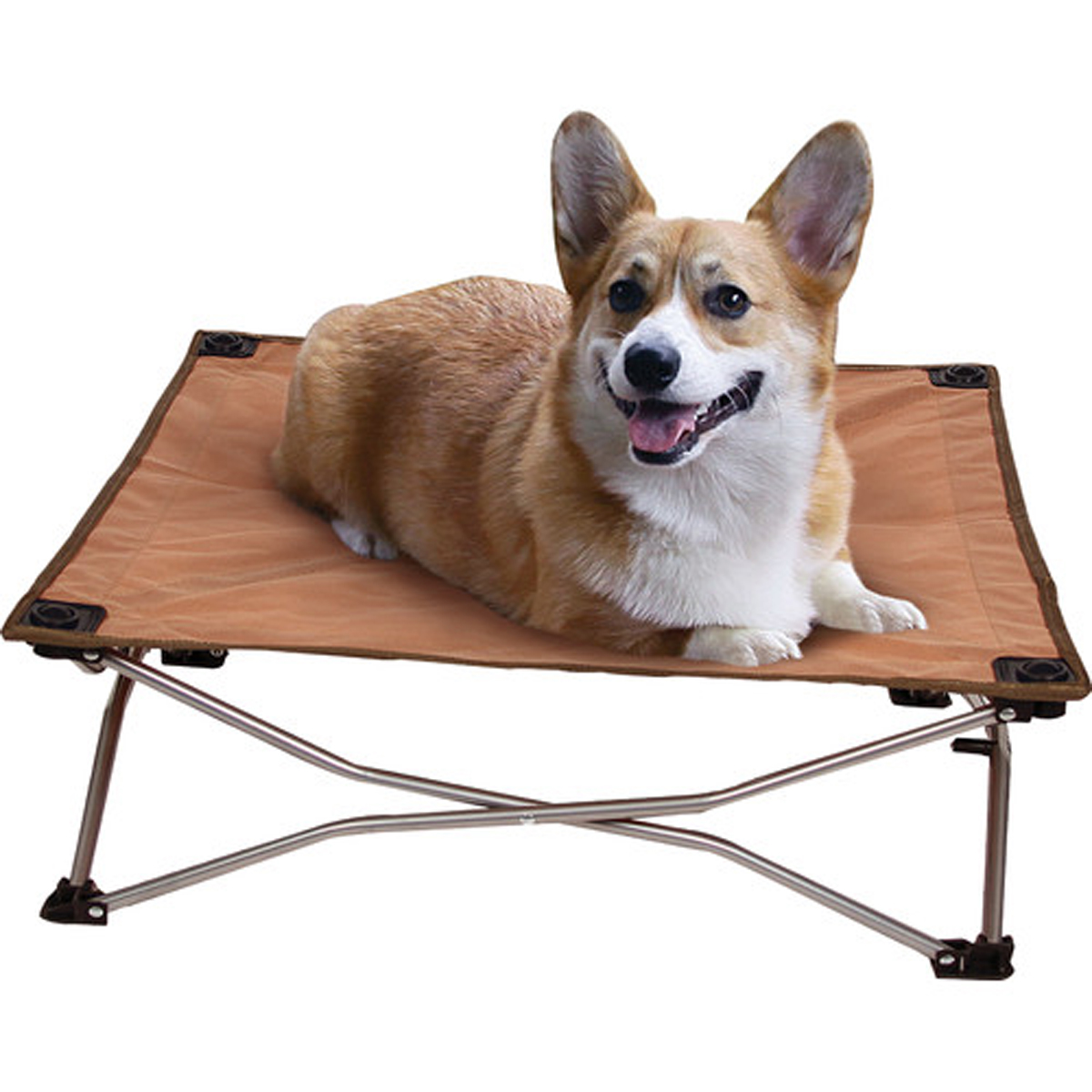 Carlson Portable Pup Travel Dog Bed   Tan