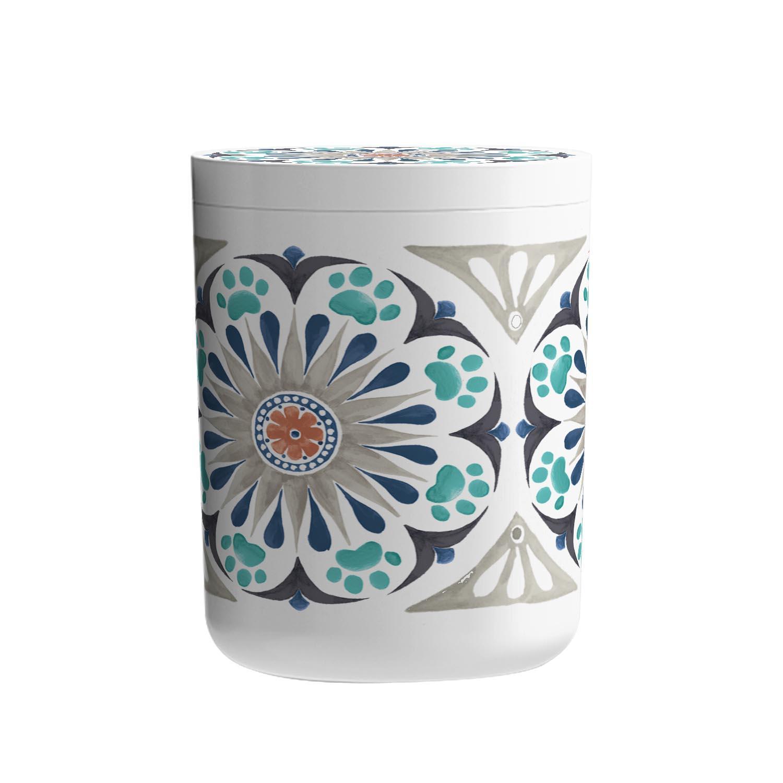 Carmel Medallion Pet Treat Jar by TarHong - Grey