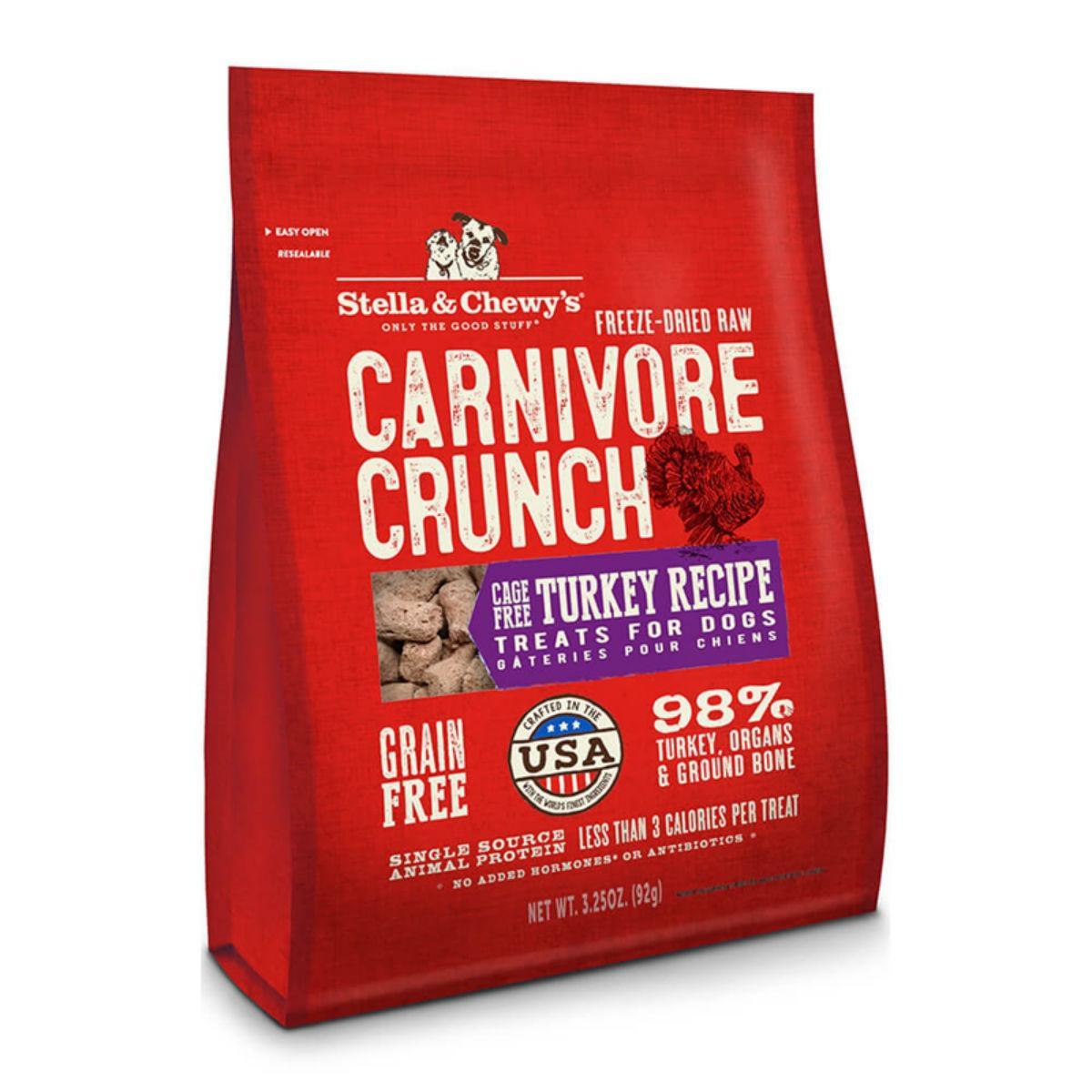 Stella & Chewy's Carnivore Crunch Dog Treats - Turkey