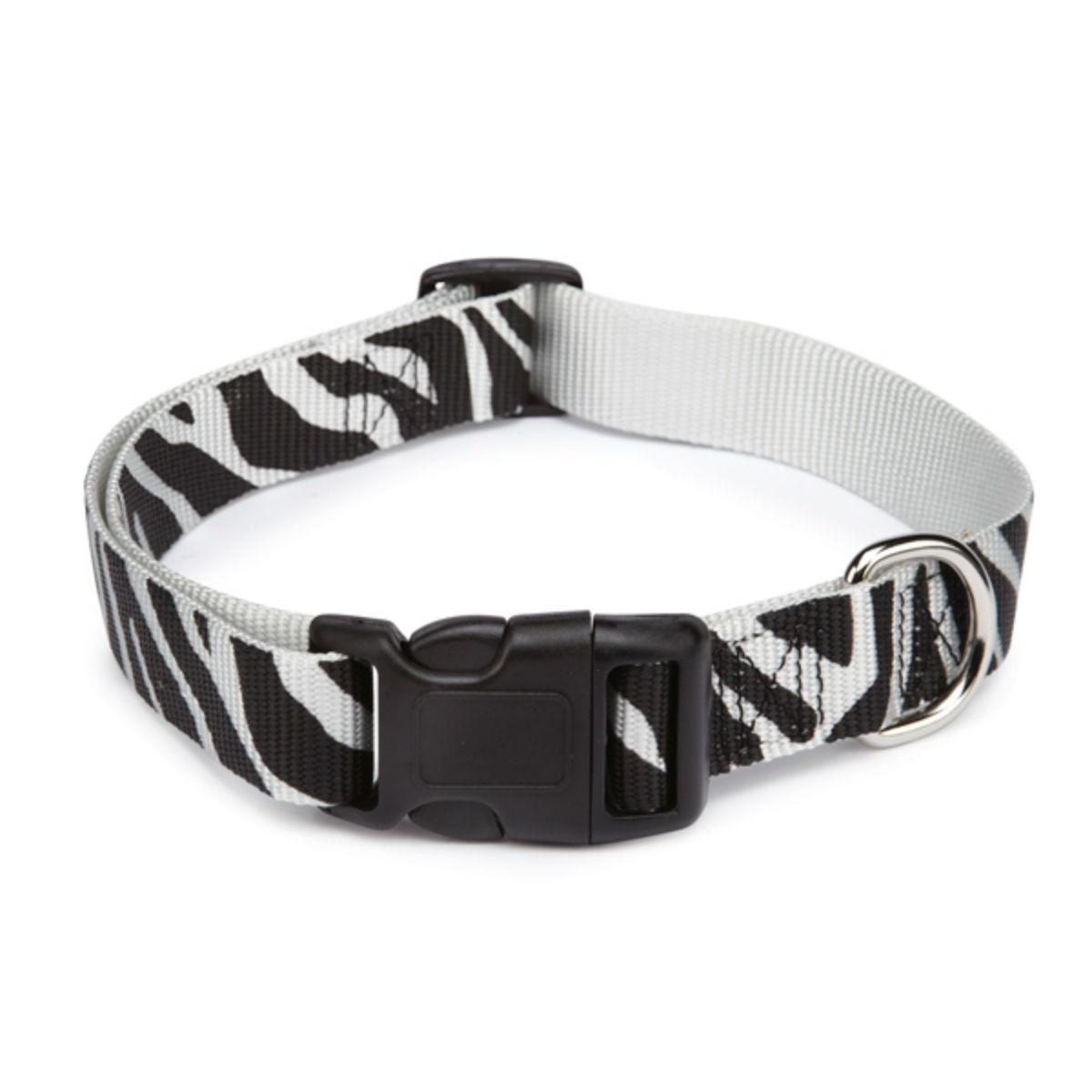 Casual Canine Animal Print Dog Collar - Zebra