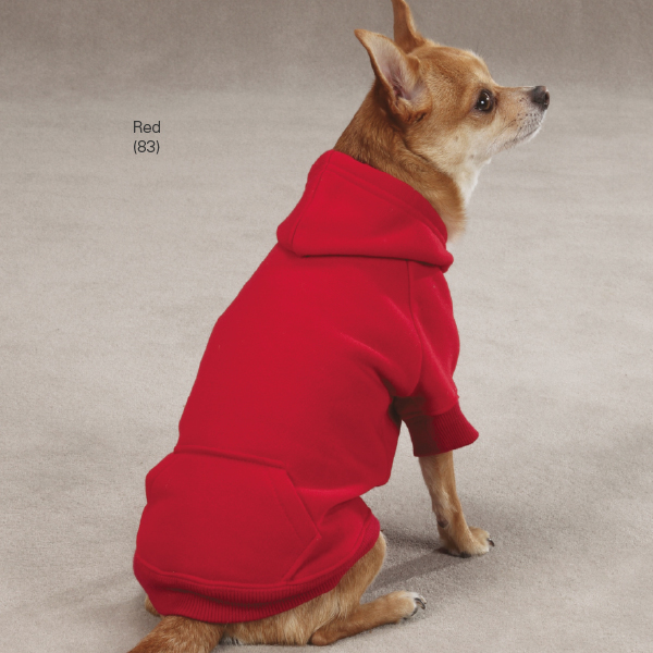 Casual Canine Basic Dog Hoodie - Red
