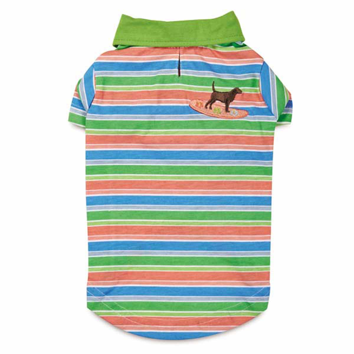 Casual Canine Hawaiian Breeze Polo Dog Shirt with UPF 40