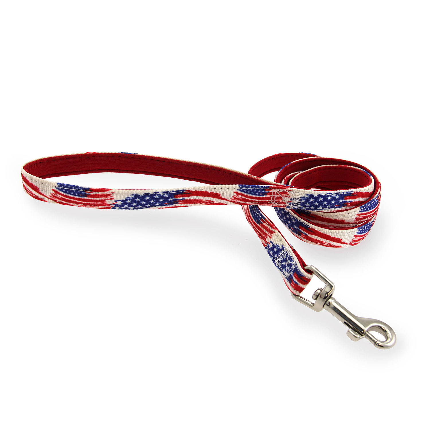 Casual Canine Neoprene Dog Leash - American Flag