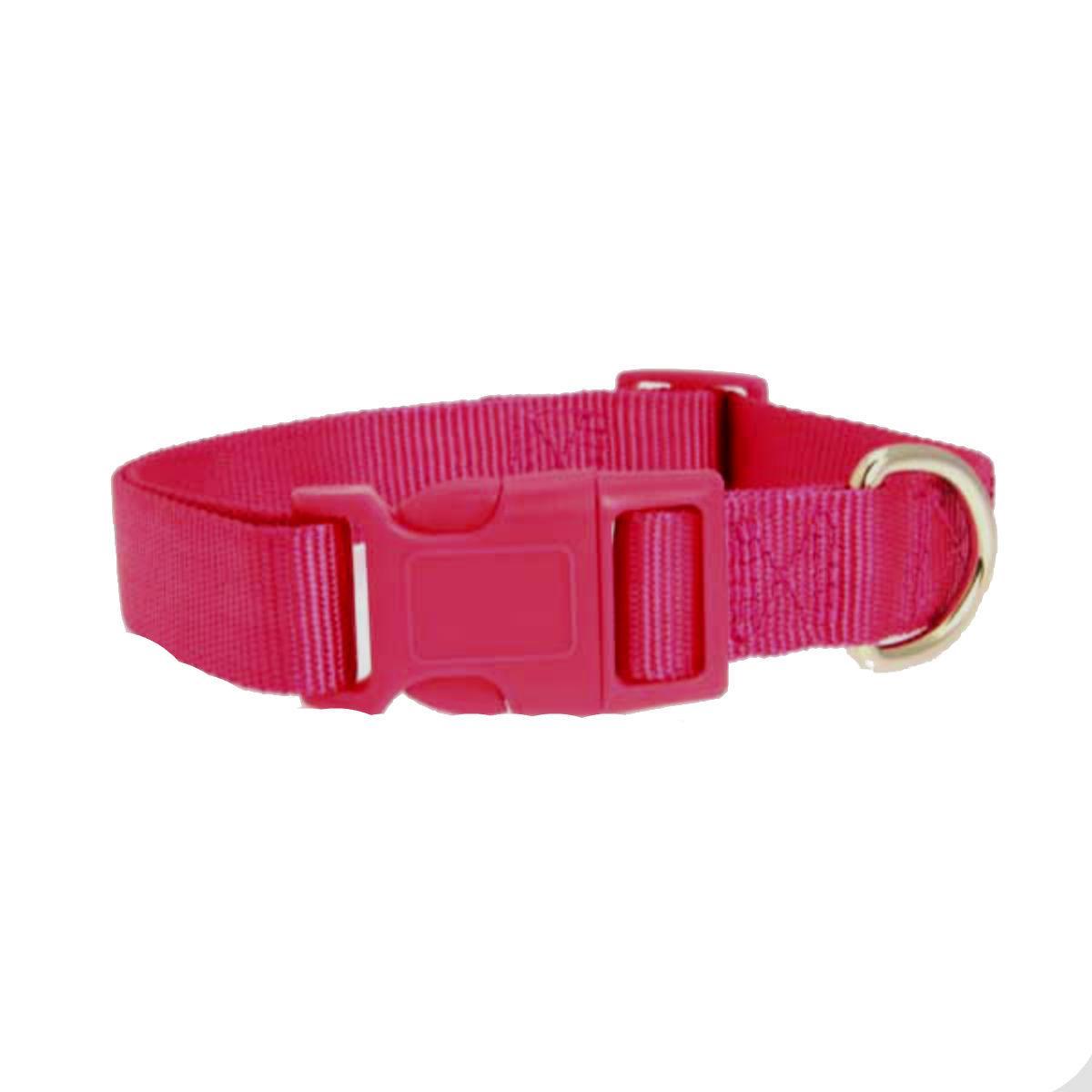 Casual Canine Nylon Dog Collar - Raspberry Pink