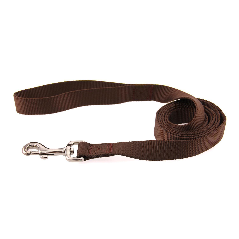 Casual Canine Nylon Dog Leash - Chocolate