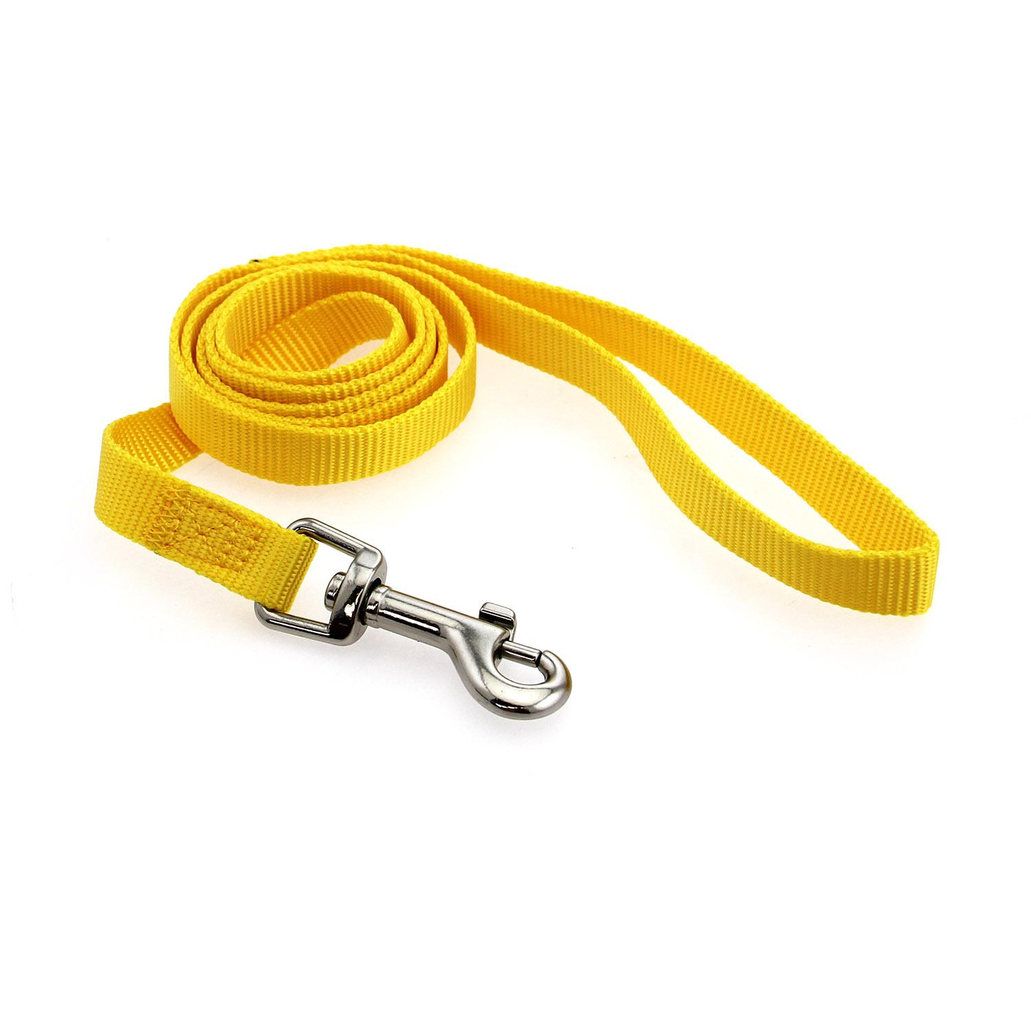Casual Canine Nylon Dog Leash - Yellow