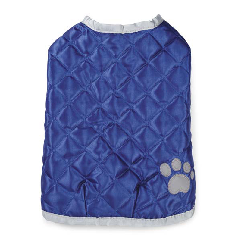 Quilted Nor'Easter Dog Coat - Blue