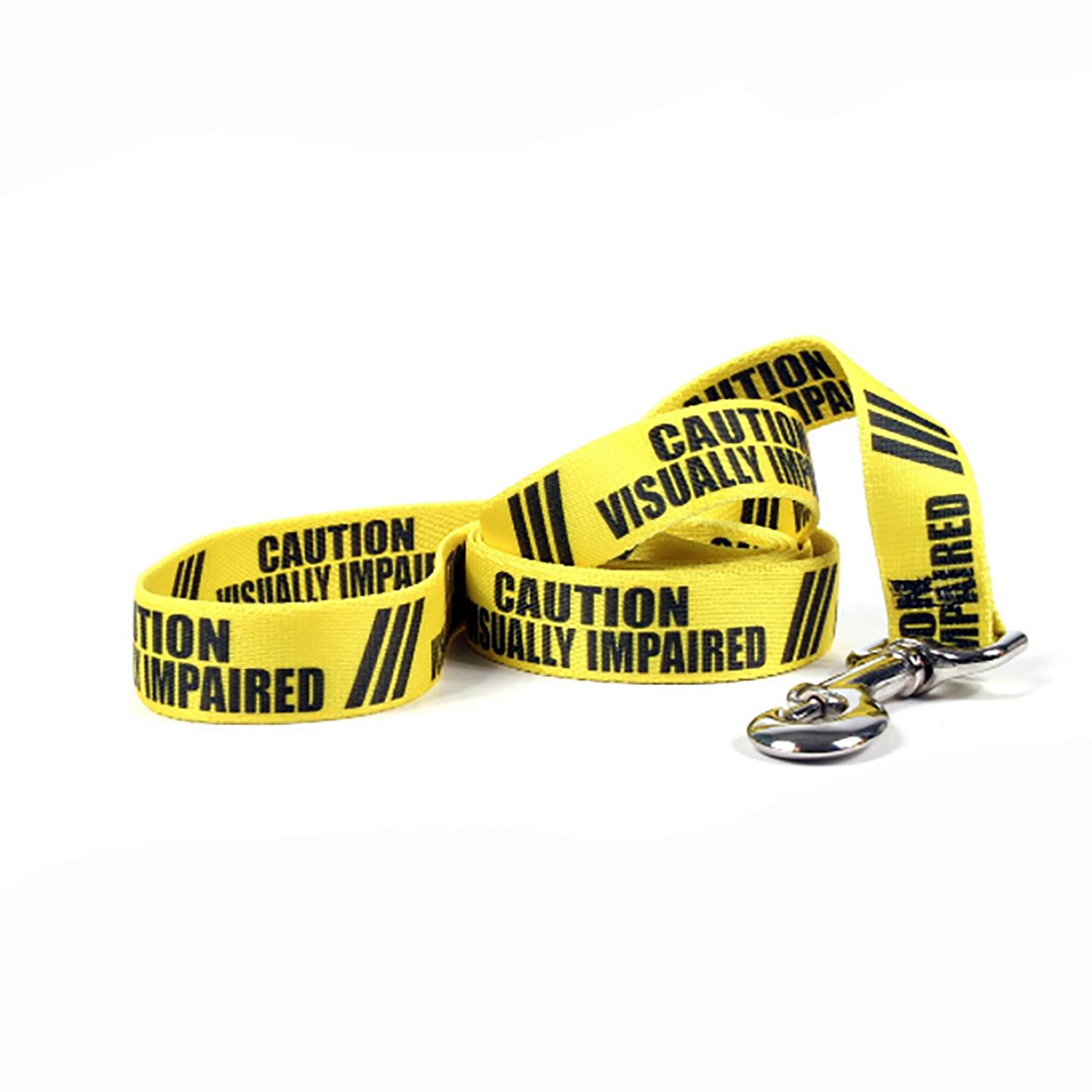 Caution Dog Leash by Yellow Dog - Visually Impaired