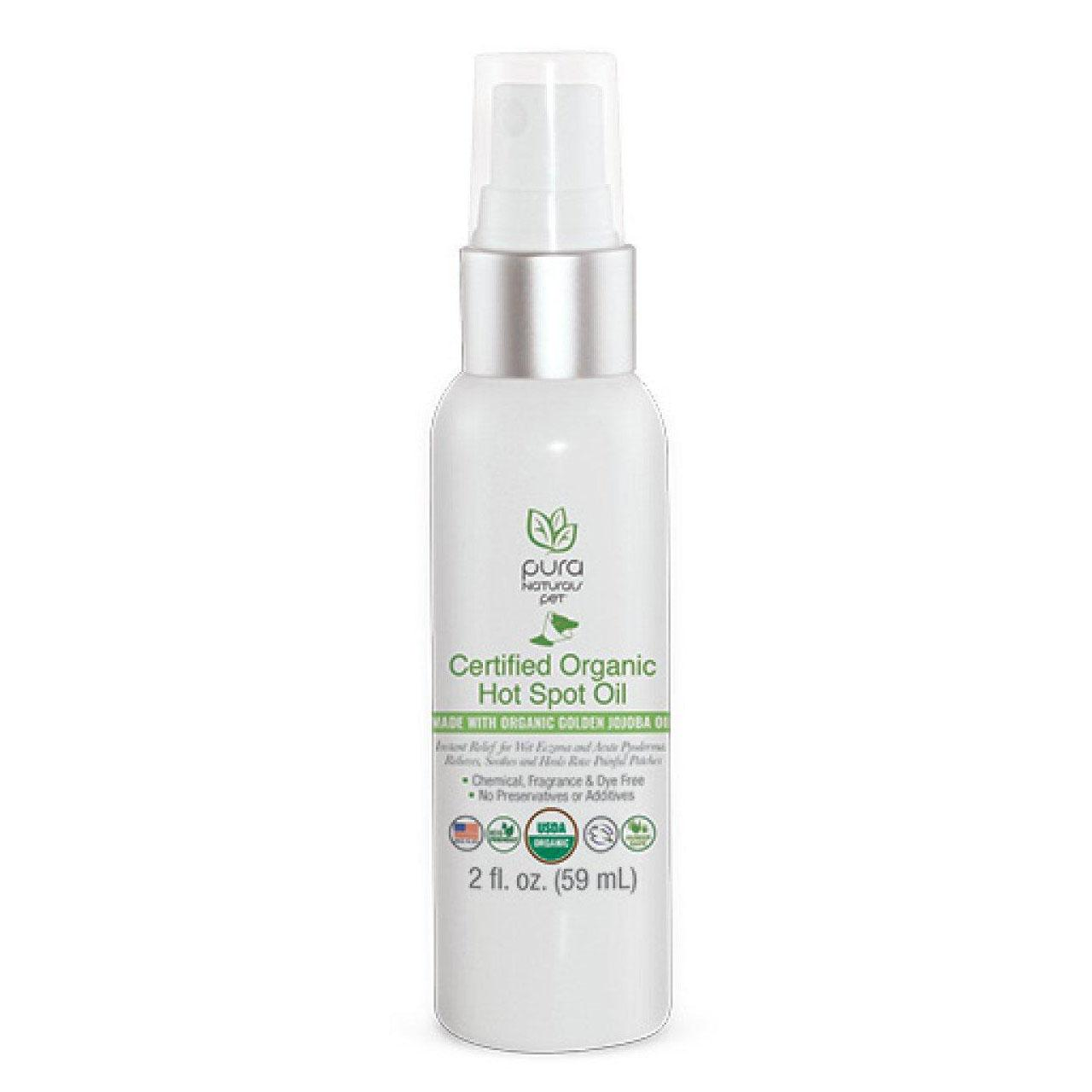 Pure and Natural Pet Certified Organic Hot Spot Oil for Dogs