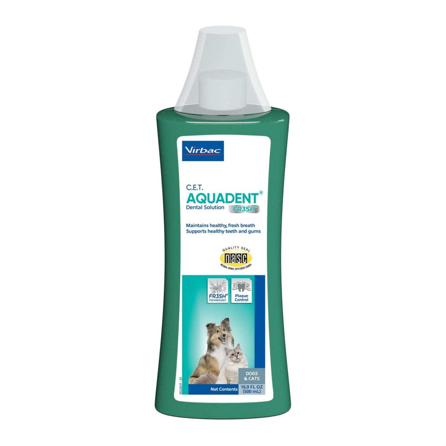 Virbac C.E.T. Aquadent FR3SH Dental Solution for Dogs and Cats