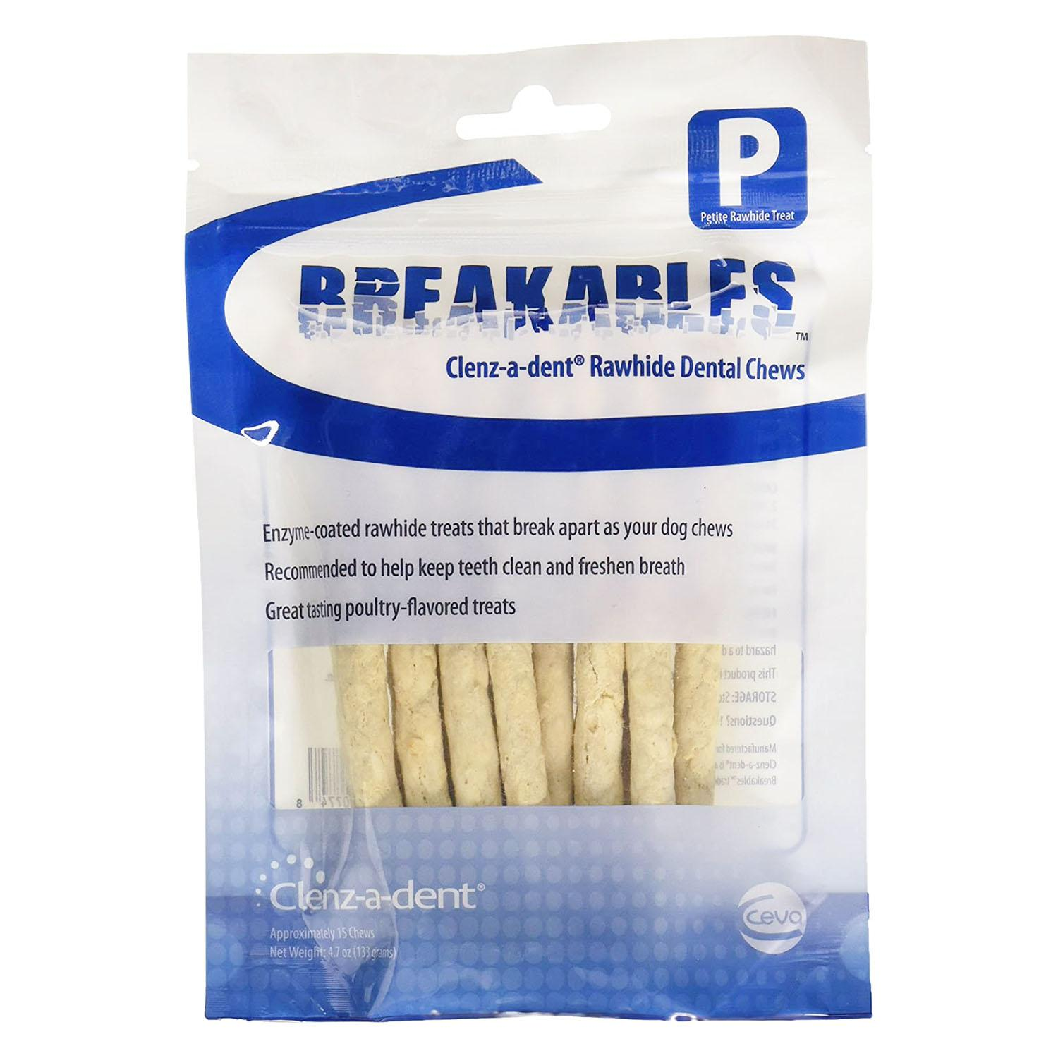 Ceva Breakables Clenz-A-Dent Rawhide Dental Chews for Dogs