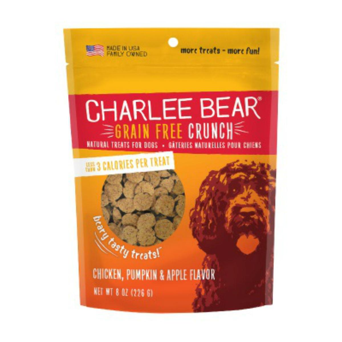 Charlee Bear Grain Free Bear Crunch Dog Treats - Chicken, Pumpkin & Apple