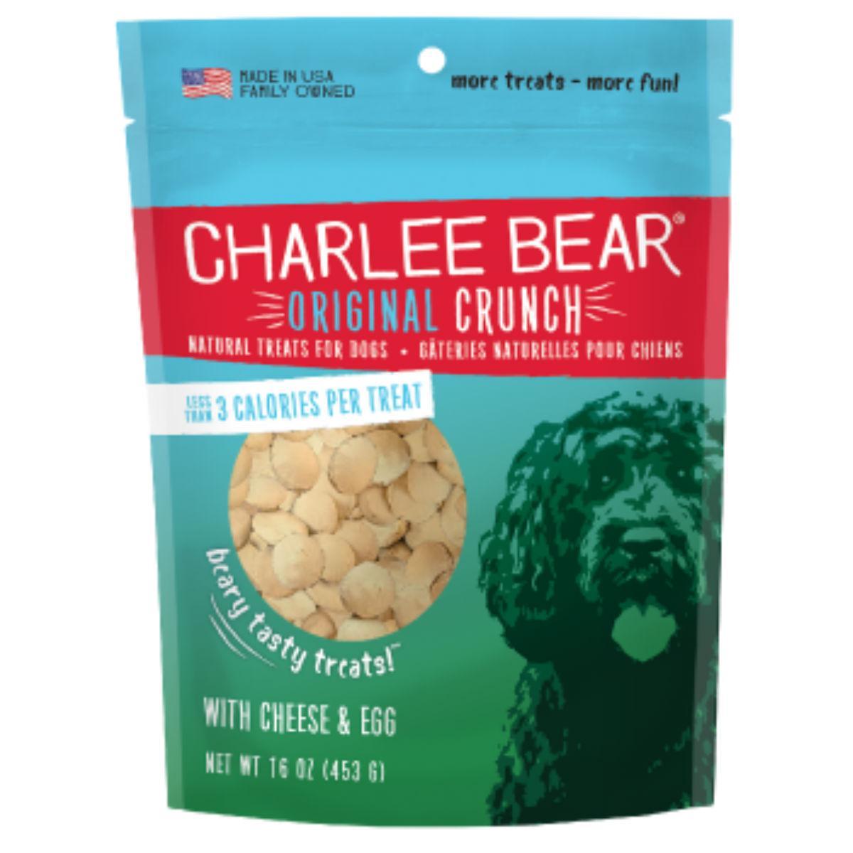 Charlee Bear Original Crunch Dog Treats - Cheese and Egg