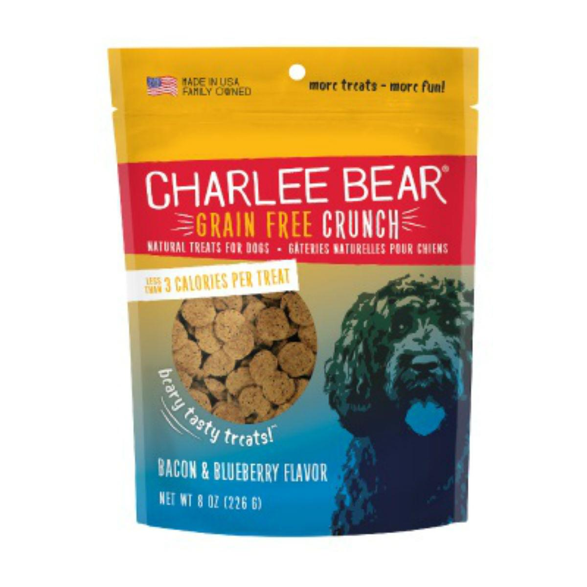 Charlee Bear Grain Free Bear Crunch Dog Treats - Bacon & Blueberry