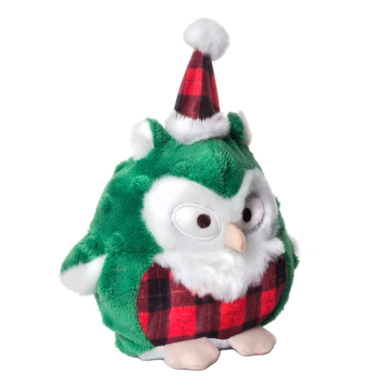 Charming Christmas Hoots Dog Toy - Green