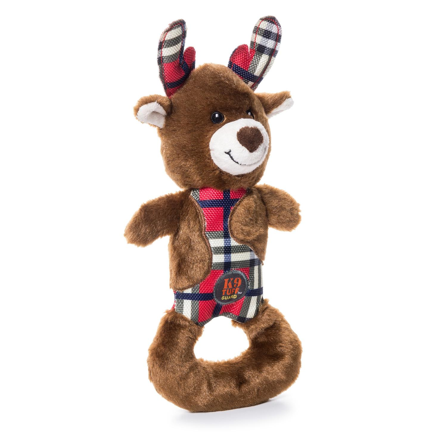 Charming Christmas Polar Patches Durable Dog Toy - Reindeer