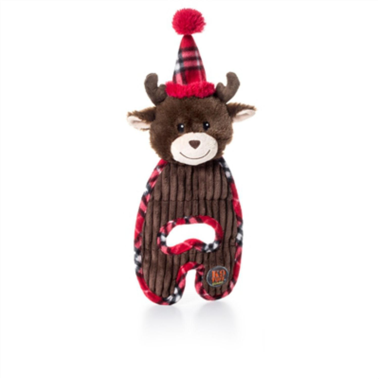 Charming Holiday Cuddle Hugs Dog Toy - Reindeer